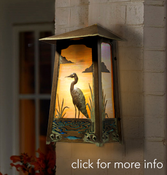 Balswin Wall Sconce with Blue Heron