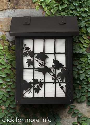 Vertical Mailbox with Ivy