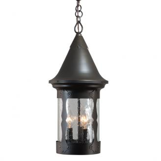 lantern style light fixture hanging rustic