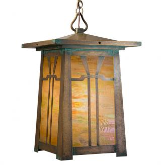 mission pendant light rustic style