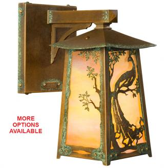 unique lighting peacock rustic lantern wall