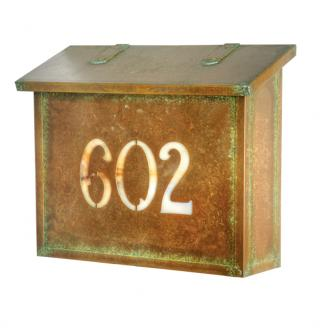 brass mailbox numbers