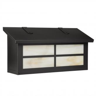 black wall mount mailbox