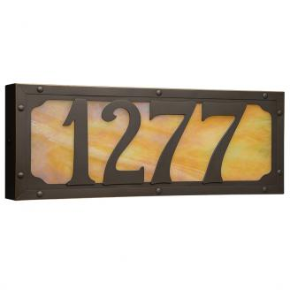 lighted house number